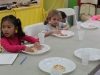 english muffin pizza in cooking class